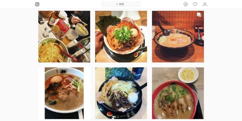 ▲Instagram(#fukuoka_tonkotsu)検索結果