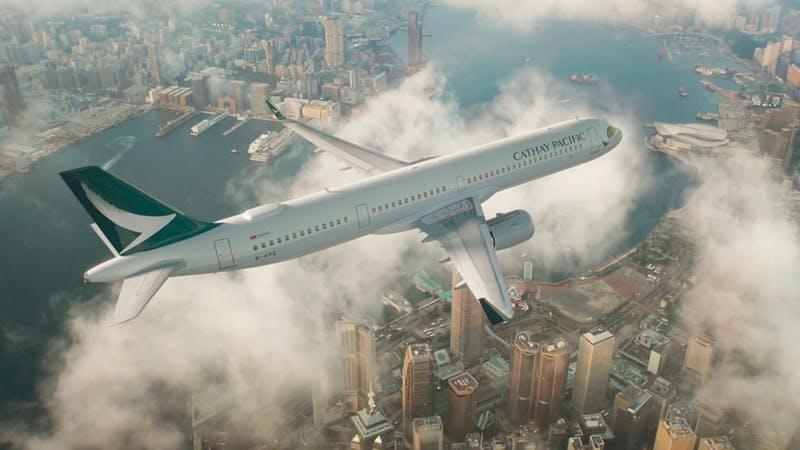 キャセイパシフィック航空のフライト画像
