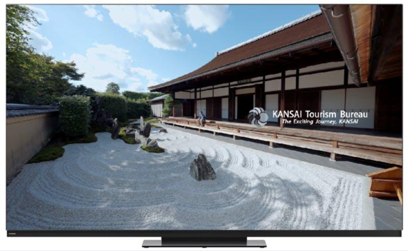 ▲ヤマダ電機のテレビ売り場で「Spiritual KANSAI」が一斉上映される:プレスリリースより