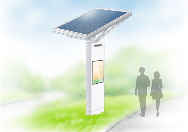 環境配慮型屋外液晶デジタルサイネージ