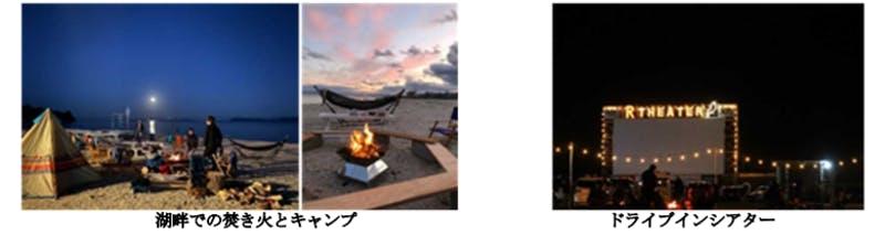 「ASOBIWA」湖畔での焚火とキャンプとドライブインシアター:令和3年版観光白書
