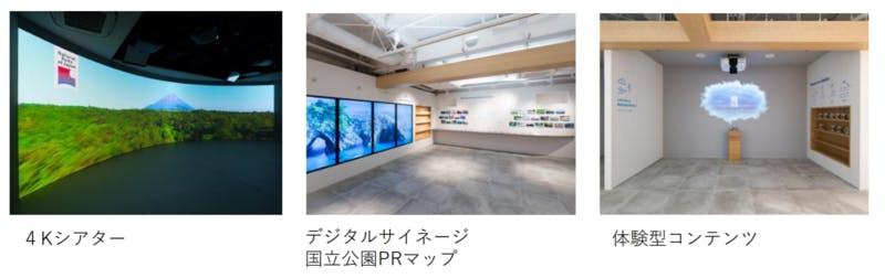 4Kシアター デジタルサイネージ国立公園マップ 体験型コンテンツ 新宿御苑