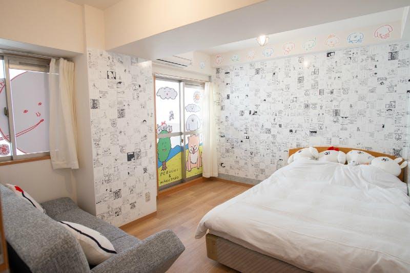 ▲2つめの部屋は賑やかなデザイン