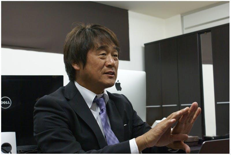 インタビューに答える株式会社MARIANA OCEAN JAPAN 代表取締役 北見 好拡氏