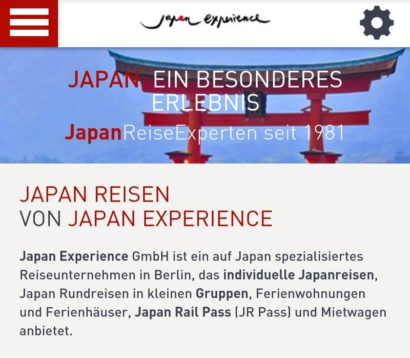 ▲[Japan experience トップページ]:Japan experience HPより引用