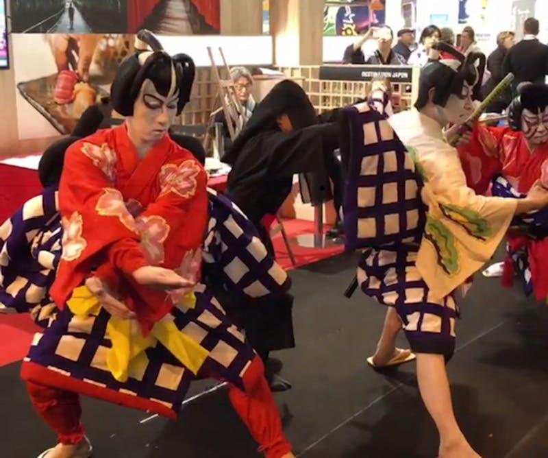 ▲「SITV2018」:歌舞伎のデモンストレーション