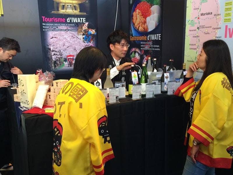 ▲「SITV2018」:岩手県ブースの日本酒販売