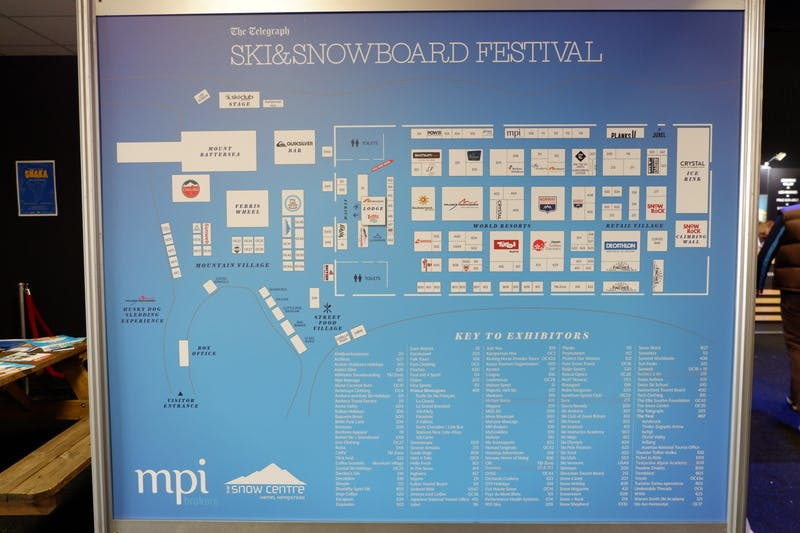 ▲ロンドンで開催「The Telegraph Ski & Snowboard Festival」:出展ブースの一覧