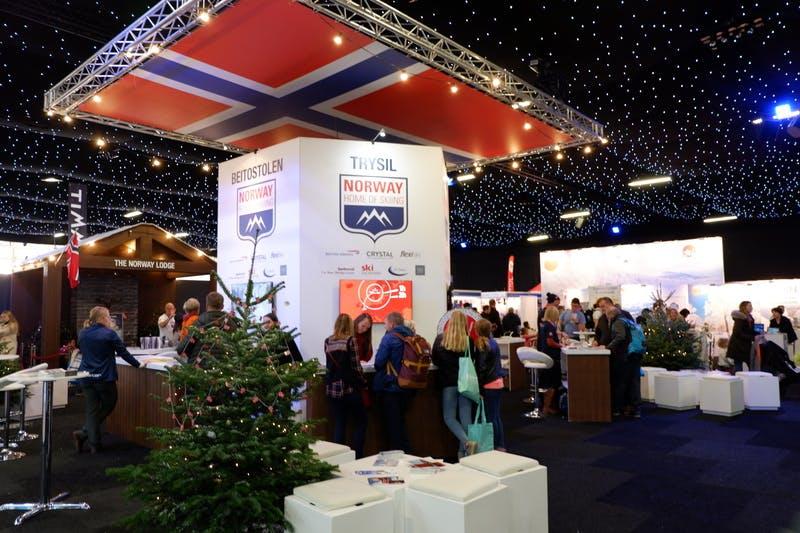 ▲ロンドンで開催「The Telegraph Ski & Snowboard Festival」:ノルウェー誘致のブース