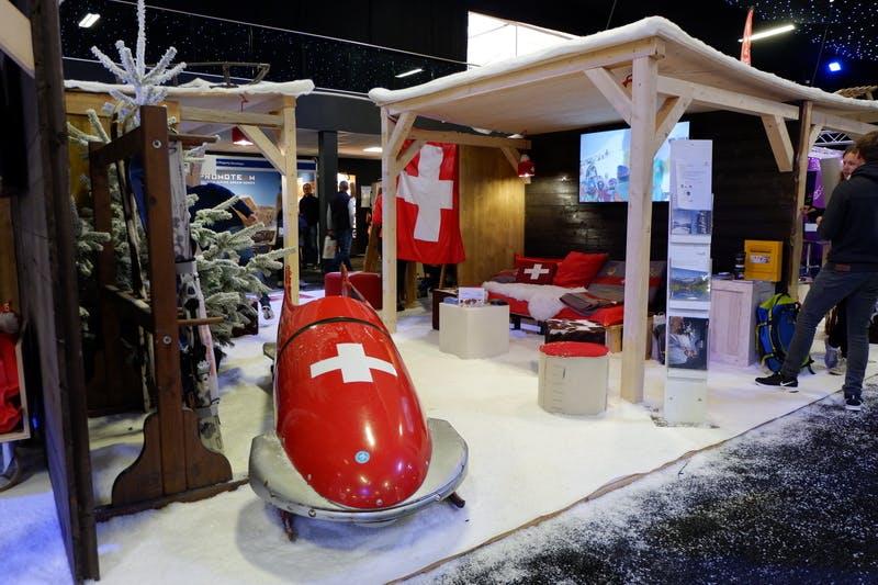 ▲ロンドンで開催「The Telegraph Ski & Snowboard Festival」:スイスブース