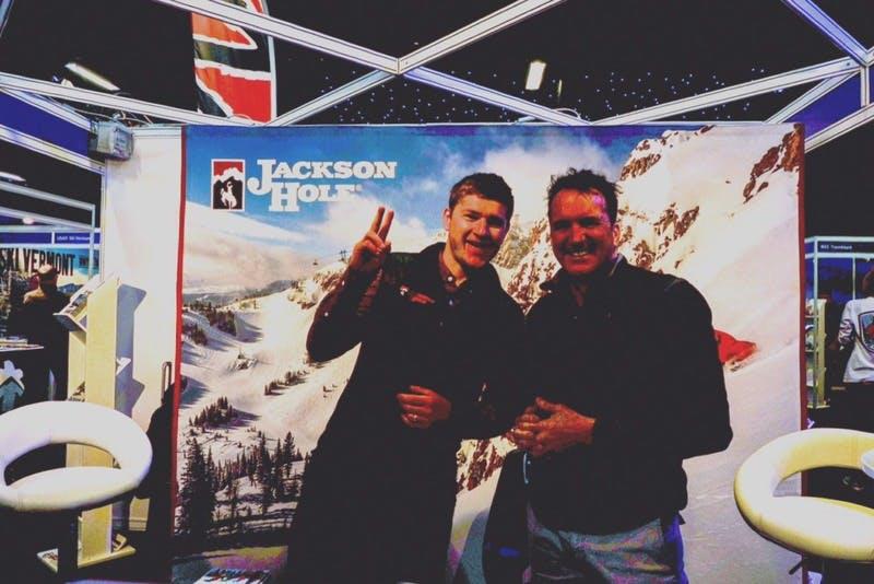 ▲ロンドンで開催「The Telegraph Ski & Snowboard Festival」:ジャクソンホール誘致のブース