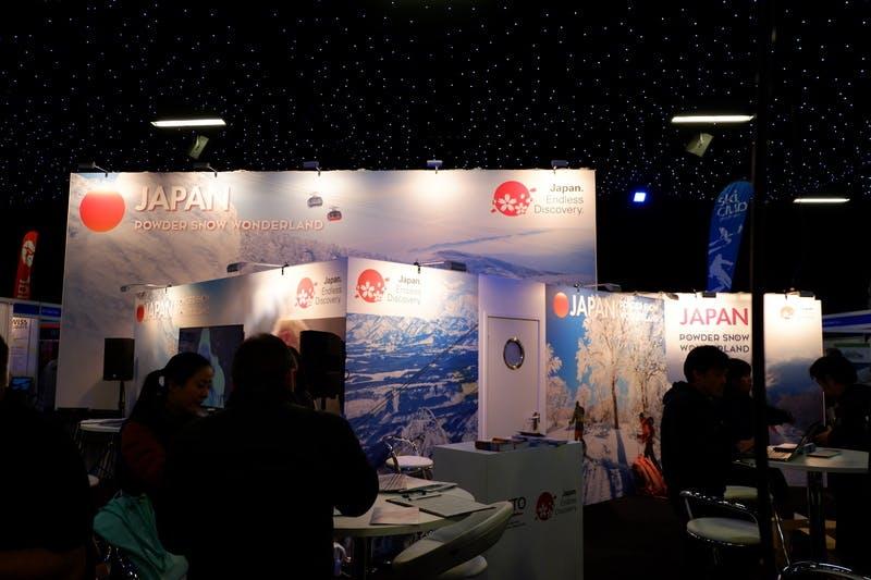▲ロンドンで開催「The Telegraph Ski & Snowboard Festival」日本誘致ブースの様子