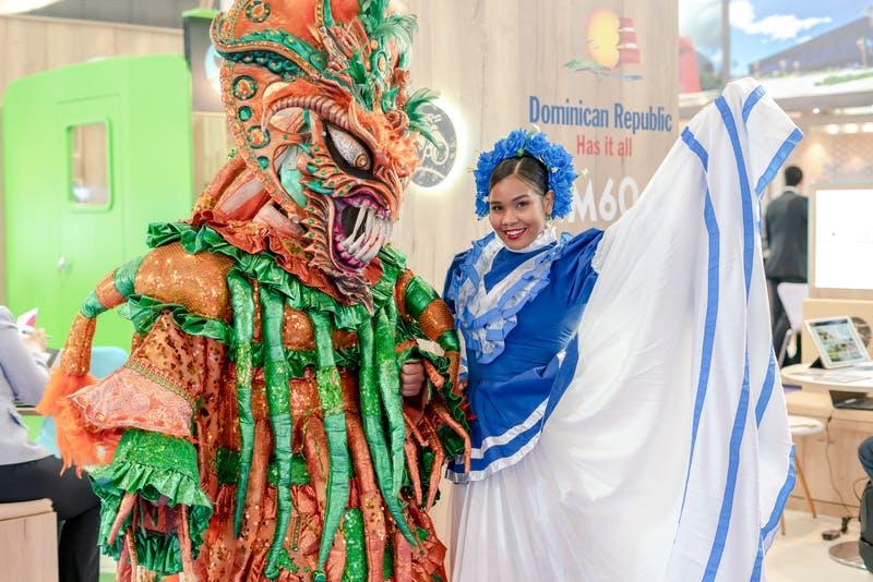 ▲IBTM World Barcelona:ドミニカ共和国の伝統衣装