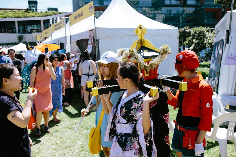 ▲Matsuri-Japan Festival:神輿を担ぐ、日本のお祭り体験