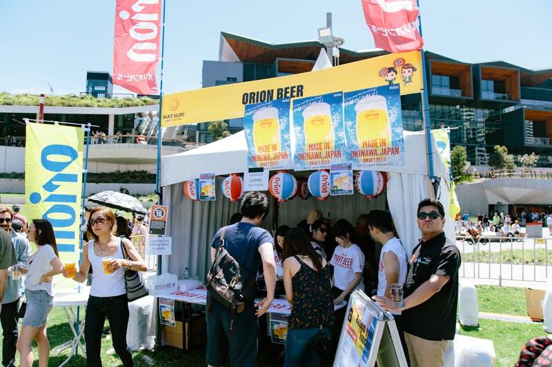▲Matsuri-Japan Festival:オリオンビールブースではビールを販売
