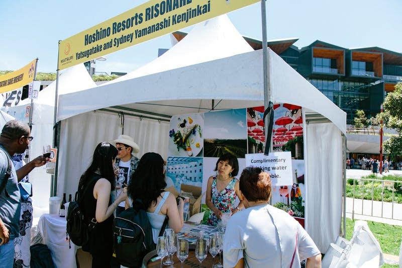 ▲Matsuri-Japan Festival:アルコール販売ブースでは専用のグラスでワインを堪能できる