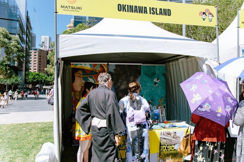 ▲Matsuri-Japan Festival:ブース内のメイングラフィックが来場者たちの目を引く
