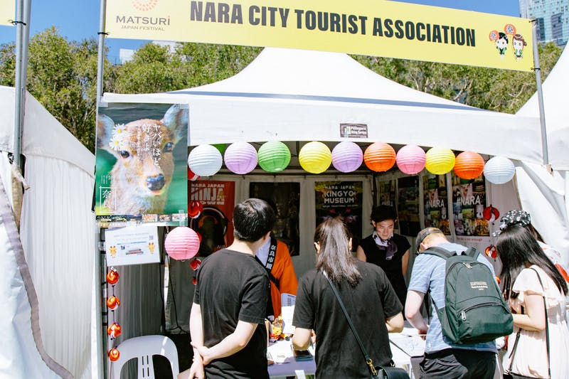▲Matsuri-Japan Festival:鹿ポスターの存在感が光る