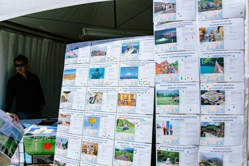 ▲Matsuri-Japan Festival:実際にアンケートに答えてもらったアクティビティーの一覧