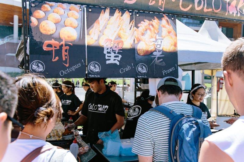 ▲Matsuri-Japan Festival:変わり種メニューもある、たこ焼きブース