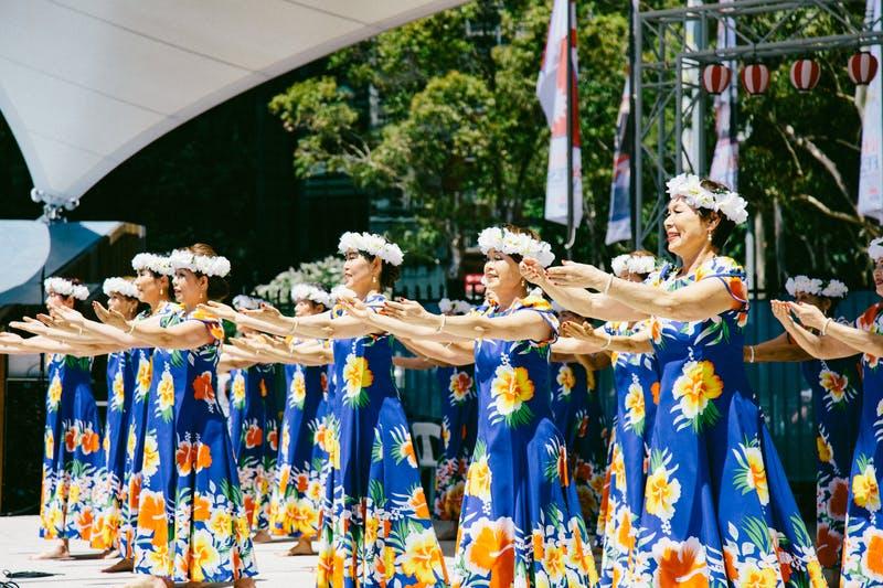▲Matsuri-Japan Festival:フラダンスグループによるステージ