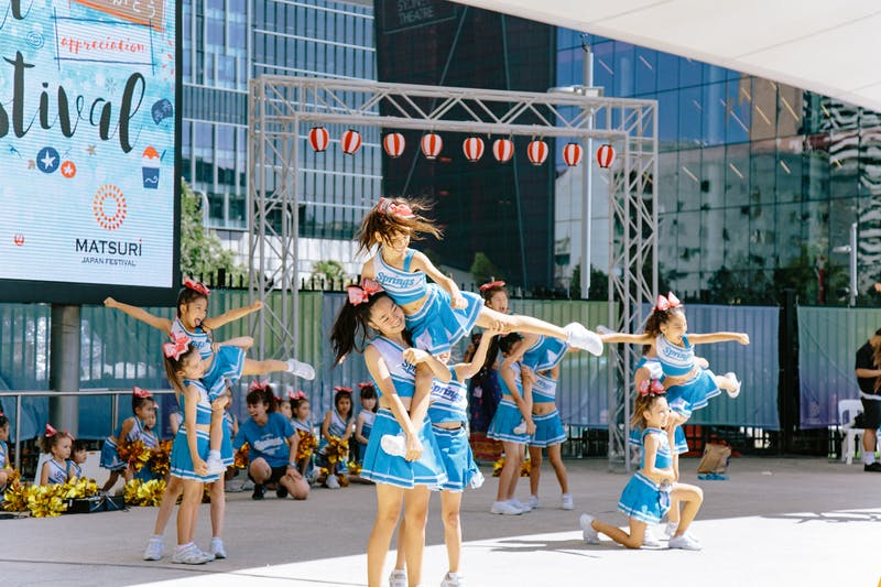 ▲Matsuri-Japan Festival:子どもたちのダンスグループによるパフォーマンス