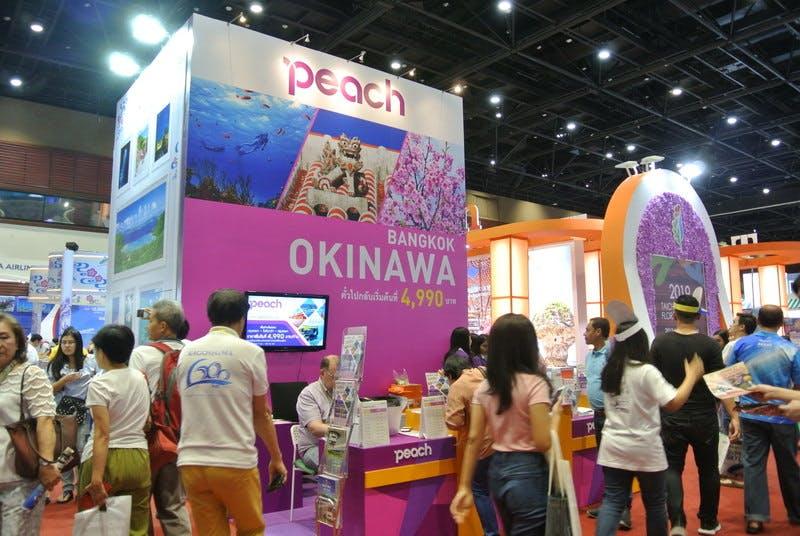 ▲TITF:沖縄人気はピーチエアラインの直航便の影響が大きい