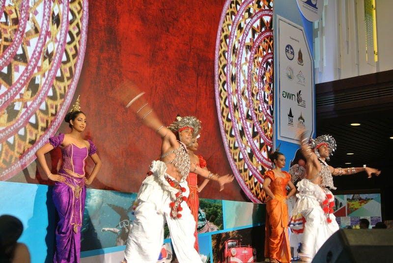 ▲TITF:躍動感あふれるスリランカの踊り