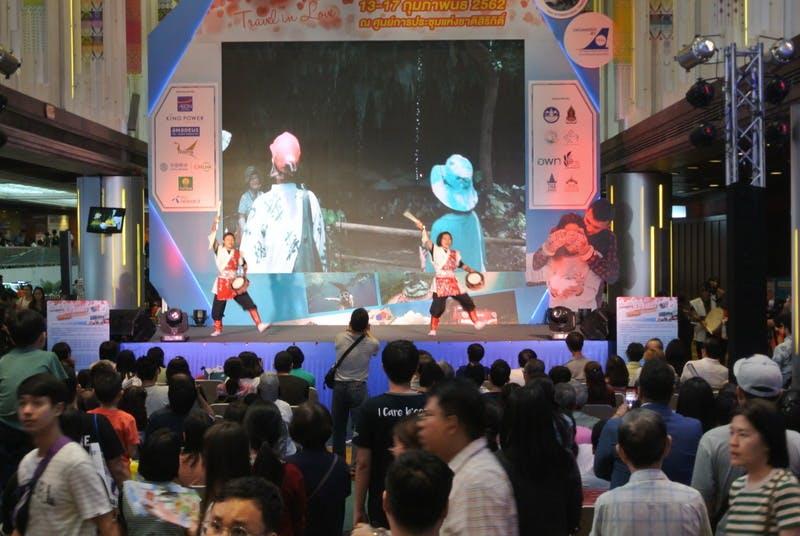 ▲TITF:沖縄はステージでも大活躍