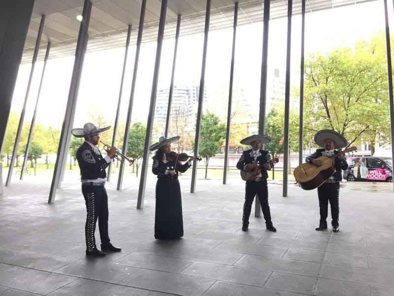 ▲World Travel Expo 2019の様子:メキシコの音楽を演奏する楽団マリアッチ