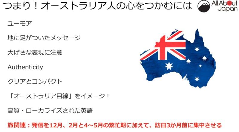 キアラ氏のプレゼン資料|オーストラリア人への訴求のポイント