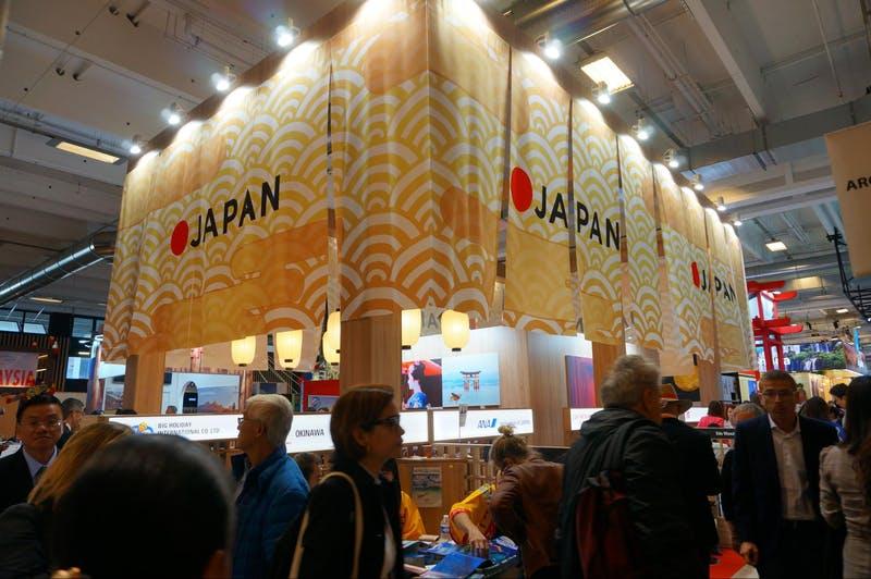 ▲「iftm TOP RESA」の様子:日本ブース。日本のイメージを前面に押し出している。