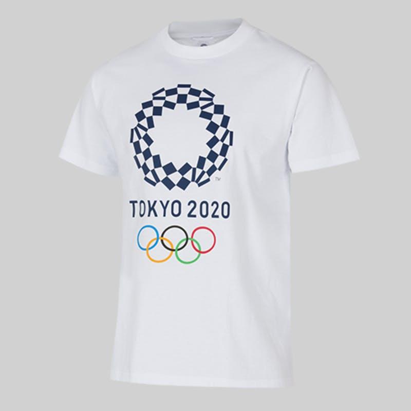 ▲ユニセックスTシャツベーシック 01:東京2020オフィシャルオンラインショップ