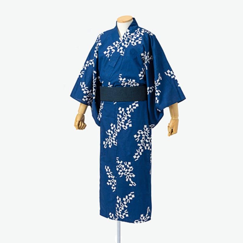 ▲メンズ 浴衣ネイビー:東京2020オフィシャルオンラインショップ