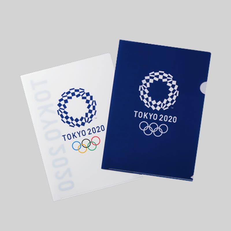 ▲クリアファイル2枚セット 01:東京2020オフィシャルオンラインショップ
