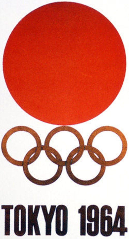▲1964年の東京オリンピックのエンブレム