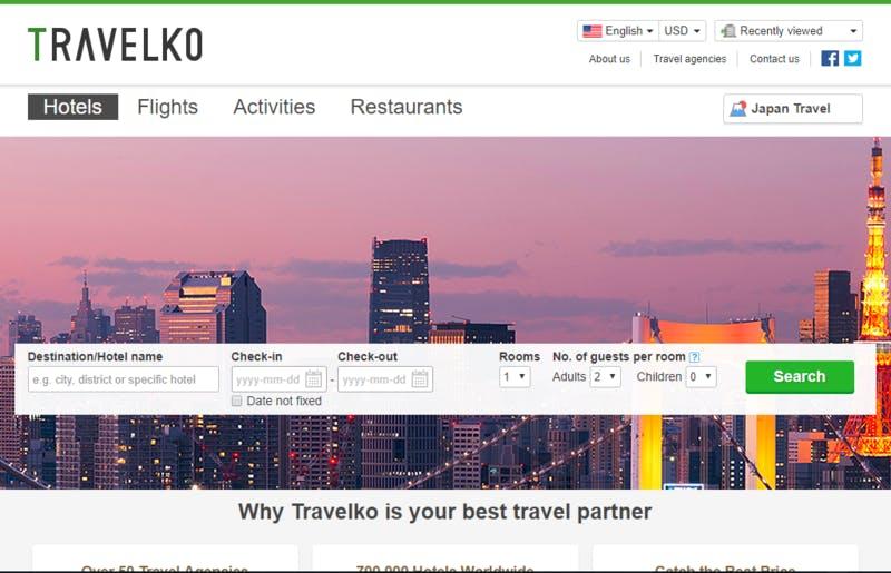 多言語によるホテル検索・比較システム