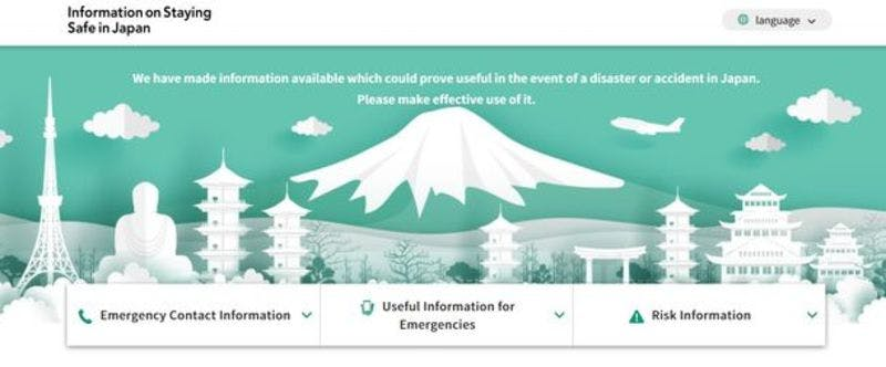「Information on Staying Safe in Japan」