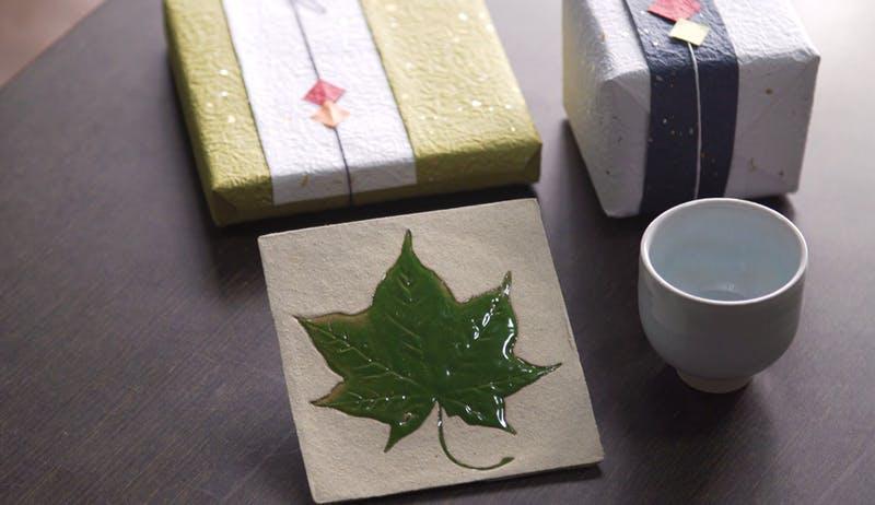 ▲もみじ型のオリジナルの焼き物:日本コンベンションサービス株式会社