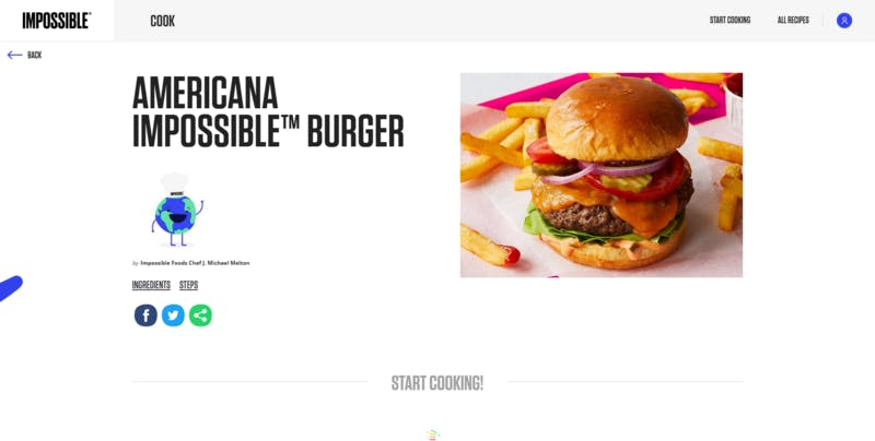 ▲[Impossible Burger]:Impossible Foods公式サイト