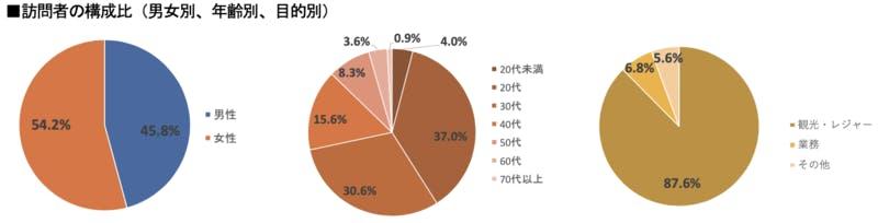 ▲[2019年上半期における大阪府の訪問者構成比]:インバウンド調査報告書2020