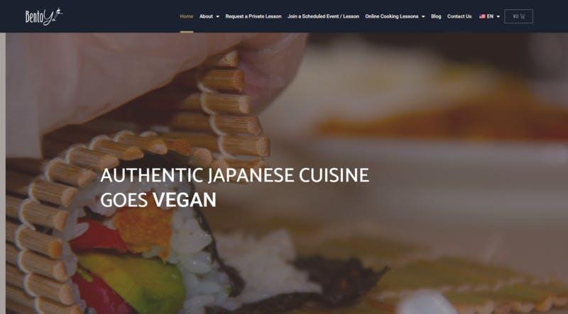 ▲[オンラインで受講できるヴィーガン和食料理教室]:一般社団法人日本ヴィーガン・ベジタリアン和食料理教室協会