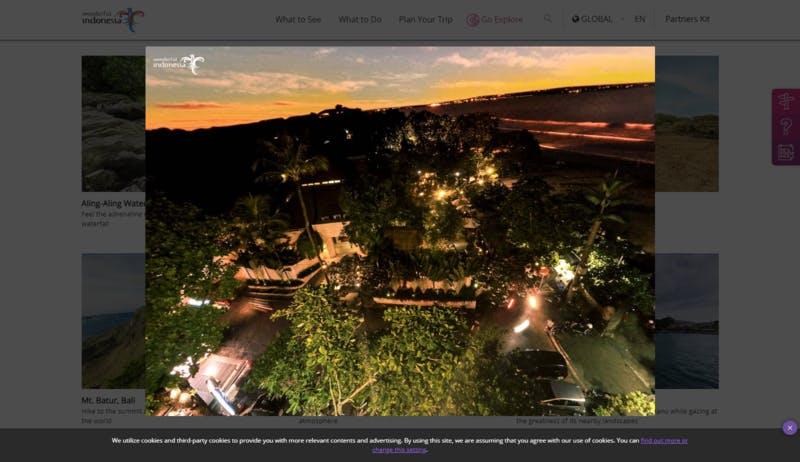 ▲[360度動画]:インドネシア共和国観光省
