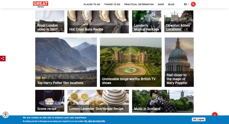 ▲[Discover Great Britain from home]:英国政府観光庁