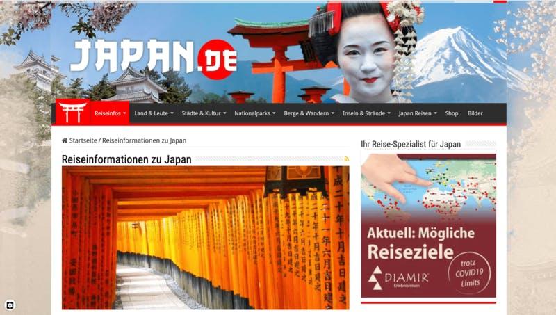 JAPAN.DEのトップページ