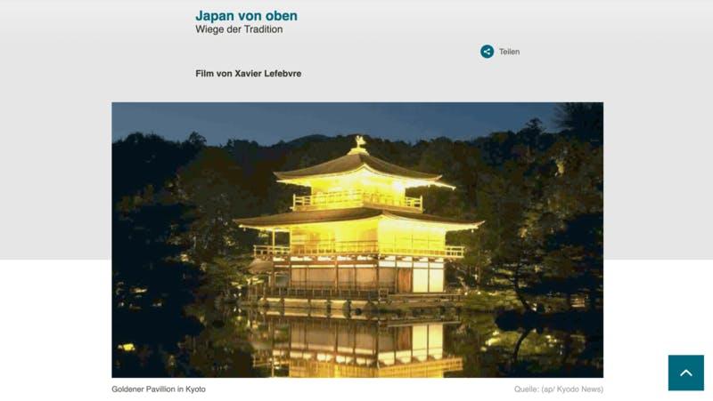 日本についてのドキュメンタリー番組 Japan von oben