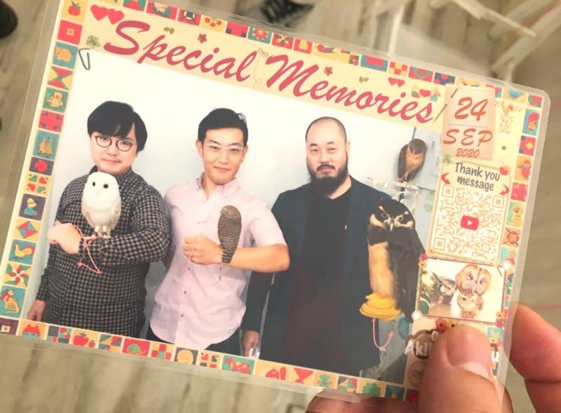このポストカードの他にも、矢部氏が撮影したベストショットも最後にプレゼントされる 訪日ラボ編集部撮影