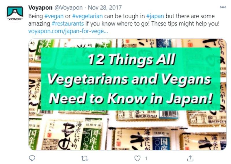 Twitterに投稿された、ベジタリアンとヴィーガンが日本で知っておくべき12のこと