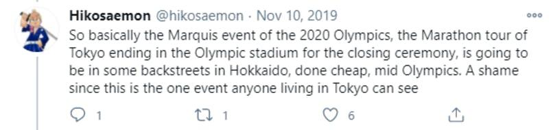 東京オリンピックの北海道開催に関するTwitter投稿