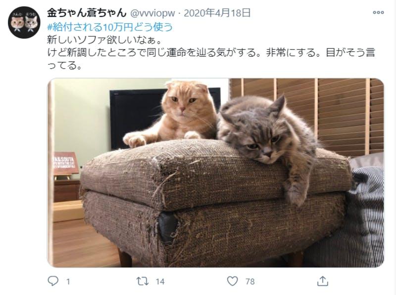 給付金に関するTwitter投稿